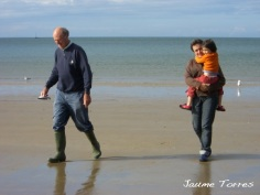 Walking on a Wales beach