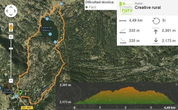 Ruta Estany de Malniu a wikiloc