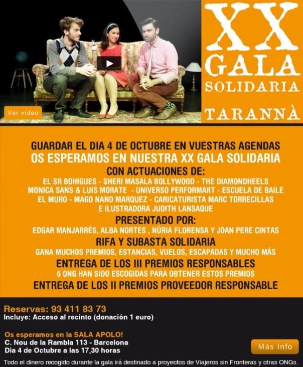 gala solidaria de Taranna, cartel