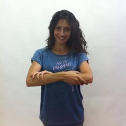 la actriz San Yélamos
