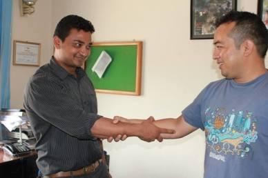 Nuestros amigos nepaleses Sujan y Anup